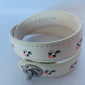 Coach Jewelry - COACH Double Wrap Leather Bracelet